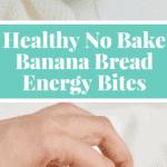 A convenient healthy no bake snack that tastes just like banana bread! #paleo #vegan #glutenfree - Find the recipe on NotEnoughCinnamon.com