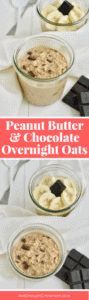 Peanut butter and chocolate are the BEST combo and these overnight oats taste just like dessert (when it's actually a healthy breakfast!). Click to see the recipe on NotEnoughCinnamon.com