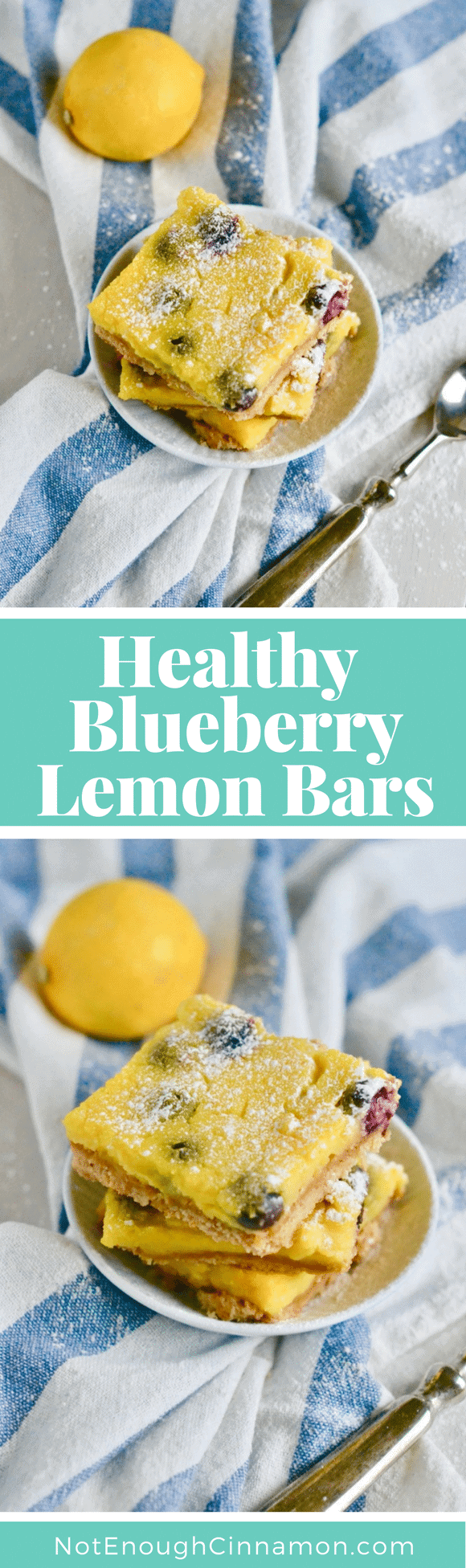 Lemon lovers need to try these Healthy Blueberry Lemon Bars! They come with an easy almond flour crust and are topped with homemade organic lemon curd with little sweet bursts of blueberries in every bite! #healthydesserts, #lemonbars, #blueberrydesserts, #healthybaking,