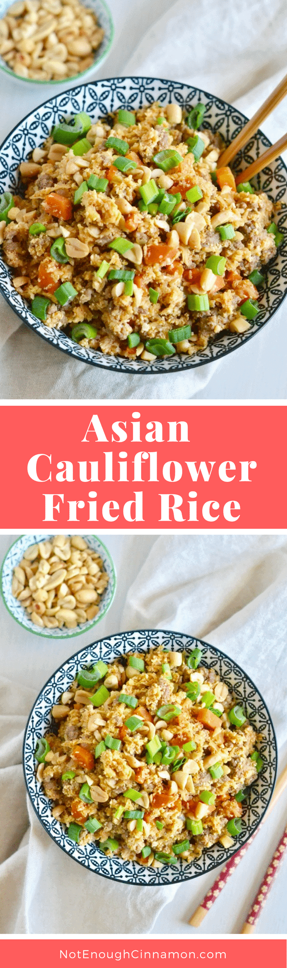 Asian cauliflower fried rice - the best easy recipe for low carb cauliflower fried rice with lean ground beef, fried egg, and an easy stir-fry sauce -so tasty and healthy! The perfect clean eating meal you can devour without feeling guilty! #healthy, #easy, #friedrice, #cleaneating