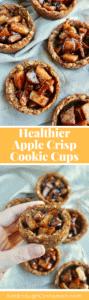 Healthy Apple Crisp Cookie Cups - Pin