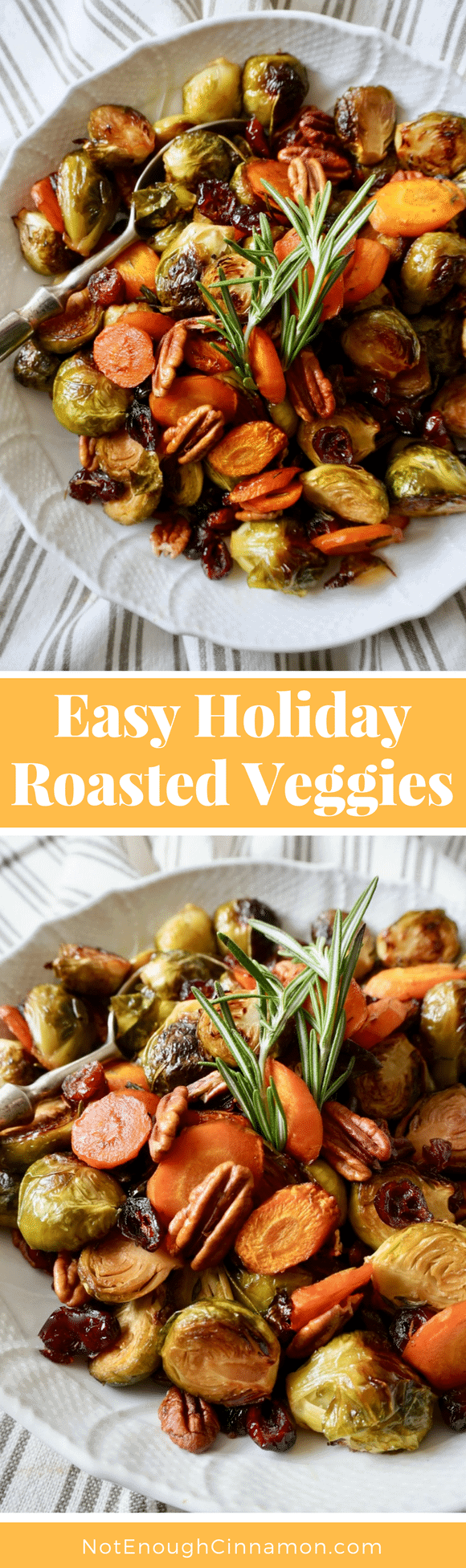 Easy Holiday Roasted Veggies |These easy oven-roasted vegetables with balsamic vinegar and maple syrup are the perfect side dish to serve alongside a Thanksgiving turkey! #healthythanksgiving, #healthyrecipes, #thanksgivingsidedishes, #cleaneatingrecipes