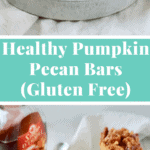 Healthy Pumpkin Pecan Bars – Perfect for Thanksgiving or anytime during the holidays! #glutenfree #dairyfree #refinedsugarfree #cleaneating