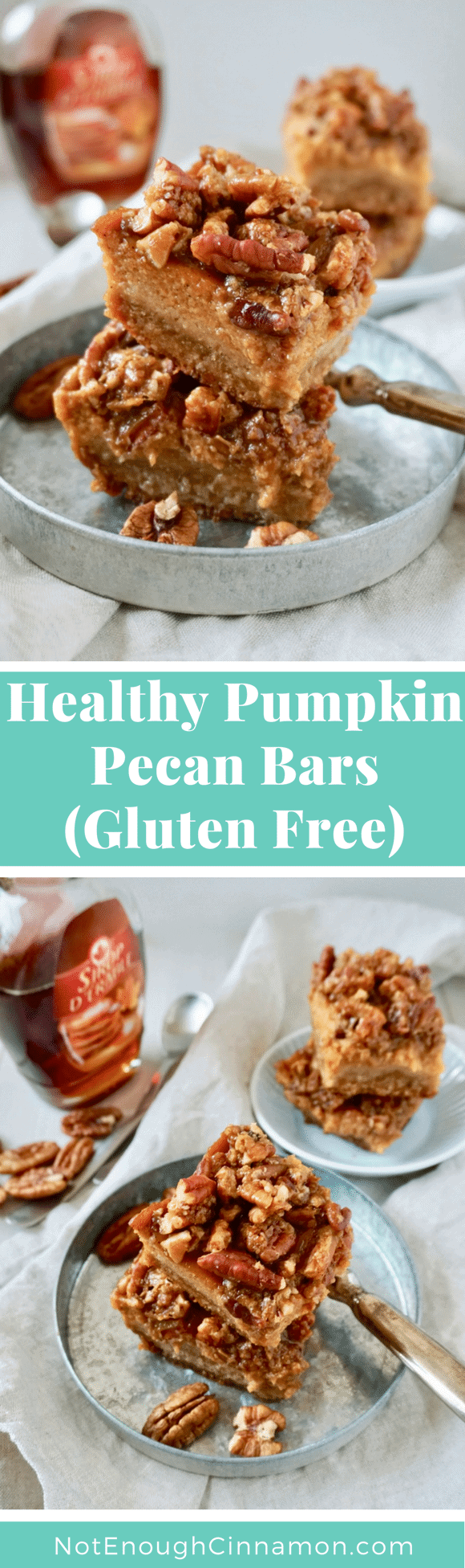 Healthy Pumpkin Pecan Bars – These easy pecan bars are the perfect light dessert for Thanksgiving or anytime during the holidays! #glutenfree #dairyfree #refinedsugarfree #cleaneating, #thanksgivingdesserts, #thanksgivingrecipes, #healthythanksgiving