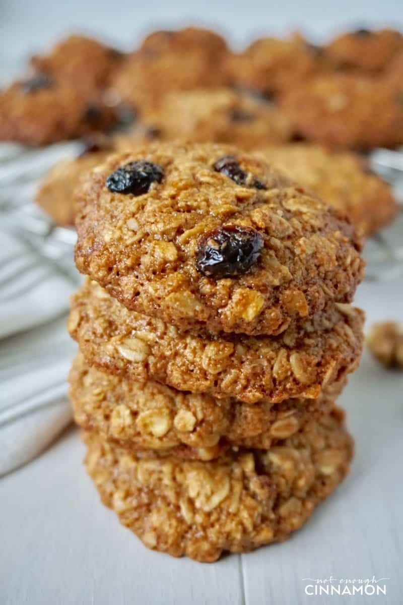 Cranberry Walnut Oatmeal Cookies #GlutenFree #RefinedSugarFree #Dairy Free