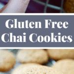 Gluten Free Chai Cookies {#DairyFree + #RefinedSugarFree} - Recipe on NotEnoughCinnamon.com #cleaneating