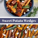 Pinterest graphic of Sweet Potato Wedges