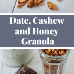 An easy homemade granola recipe without refined sugar (sweetened with honey) - Recipe on NotEnoughCinnamon.com #cleaneating #glutenfree