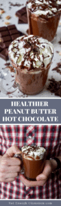 Healthy Peanut Butter Hot Chocolate - Pin