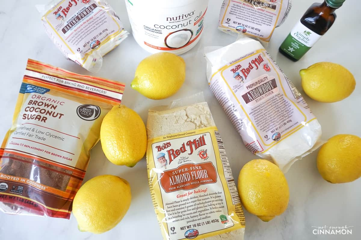 assorted iherb products on a white marble countertop