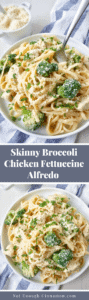 Skinny Broccoli Chicken with Cauliflower Alfredo - Pin