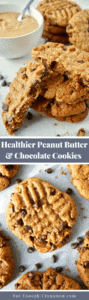 Healthy Peanut Butter and Chocolate Cookies -Pin