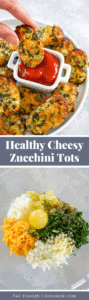 Pinterest collage for zucchini tots recipe