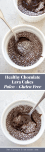 healthy Molten Chocolate Lava Cakes Pinterest Graphic