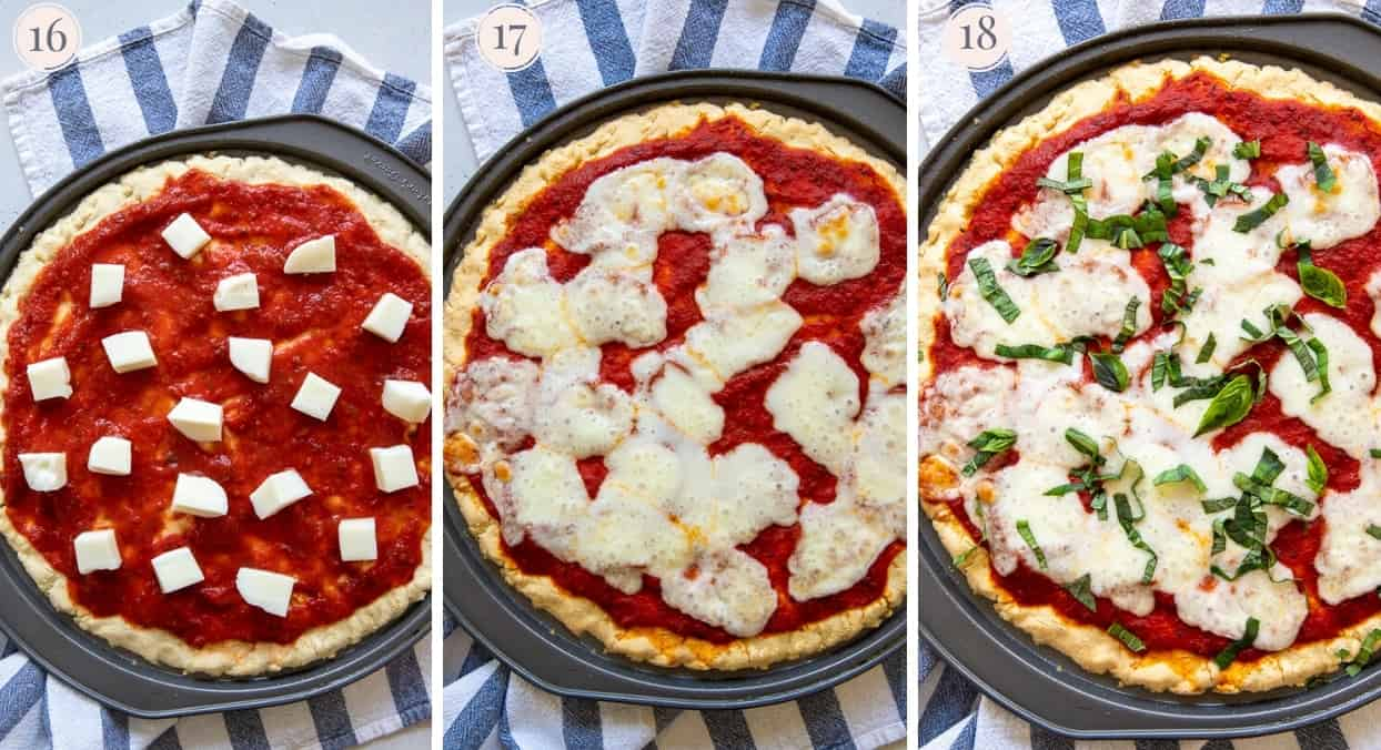 picture gallery demonstrating how to make paleo pizza Margherita