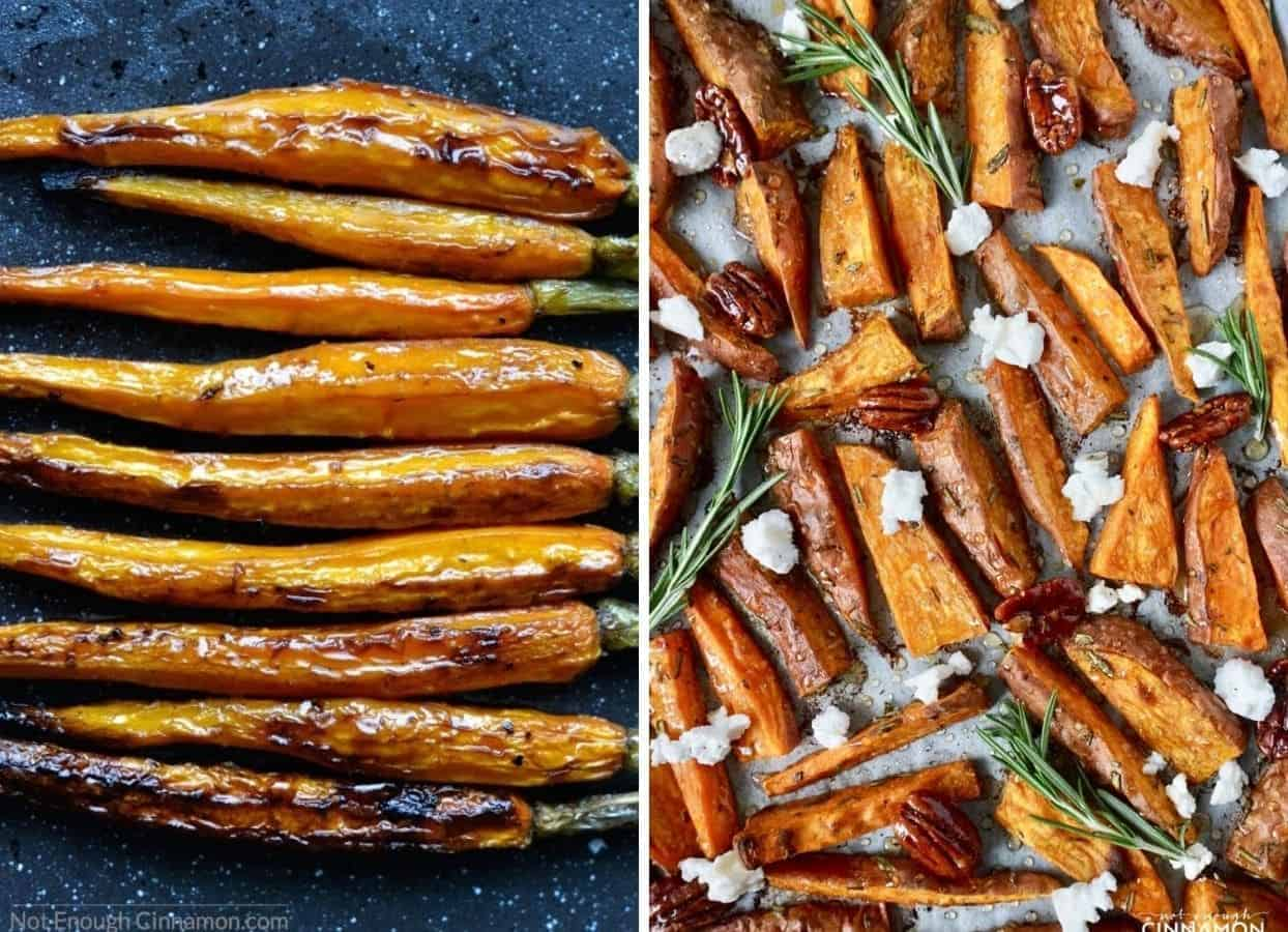 roasted carrots and sweet potatoes as examples for kosher side dishes