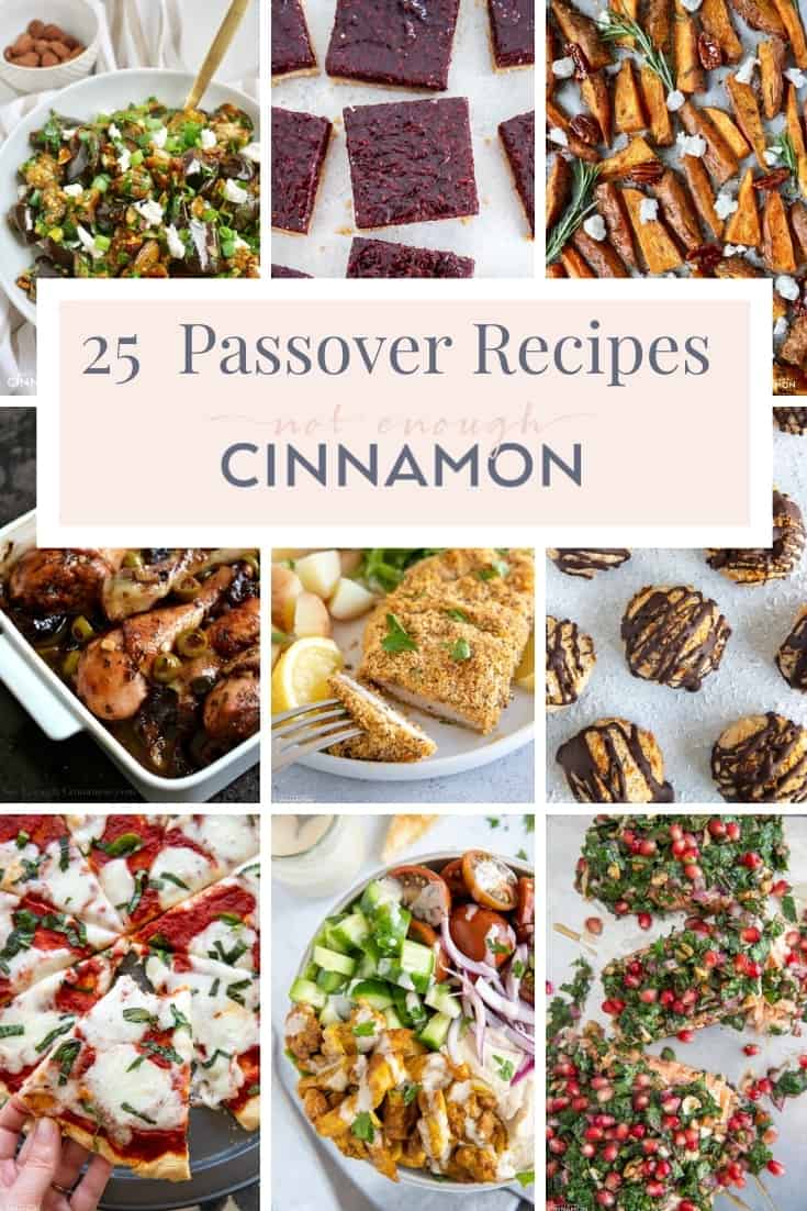 a pictures collage of easy healthy kosher recipes for Passover