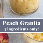 peach granita pin