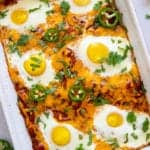 healthy Mexican huevos rancheros breakfast casserole