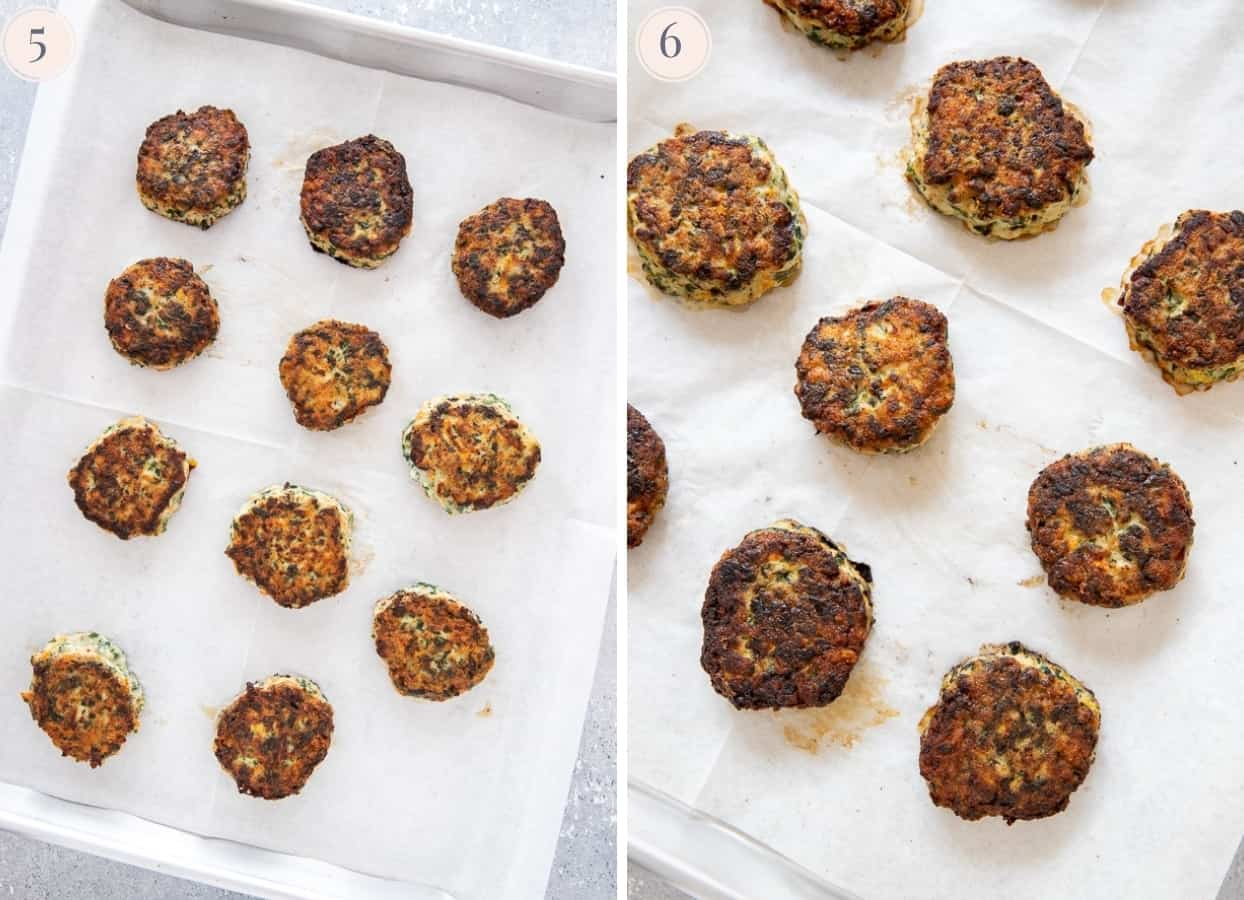 paleo Ranch chicken poppers on a cookie sheet