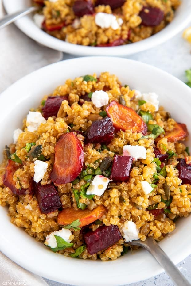 quinoa salad with beets and carrots