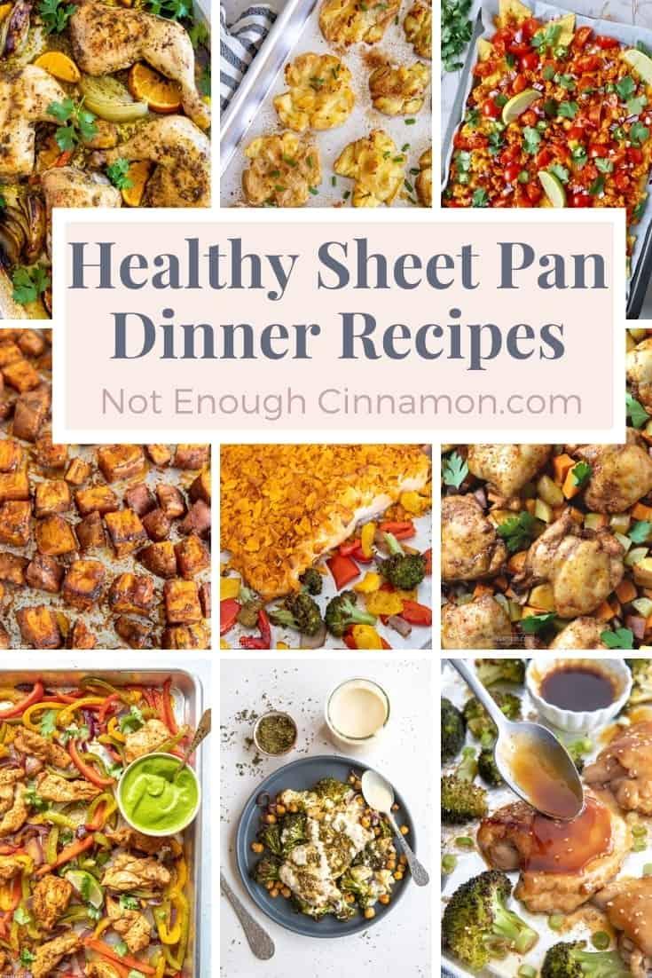 blog graphic healthy sheet pan dinner recipes