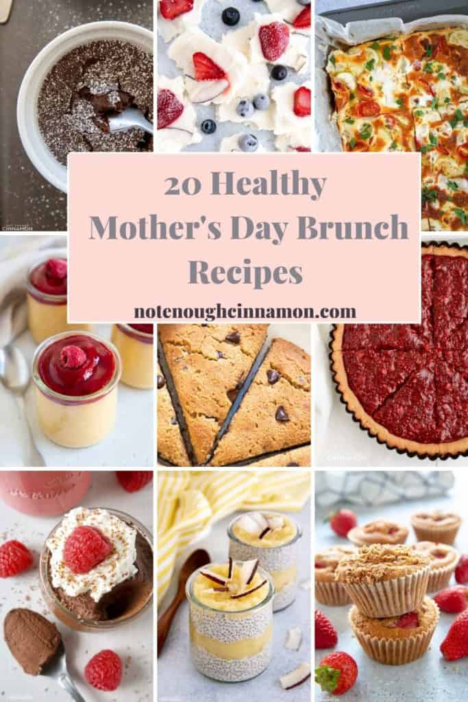 a picture collection of healthy Mother's Day Brunch recipes