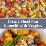 pinterest pin for sheet pan gnocchi